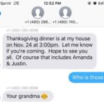 Grandma Accidentally Texts A Stranger About Thanksgiving, Now He's Invited