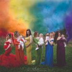 Stunning Photo Of Moms Holding Rainbow Babies Goes Viral
