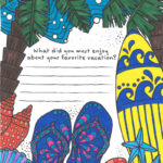 Vacation Coloring Page from Tiny Buddha's Gratitude Journal