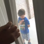 Neighbor Steps In For Little Boy Next Door While His Dad's Deployed